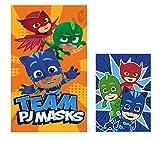 Theonoi PJ Masks Lot de 2 serviettes de...