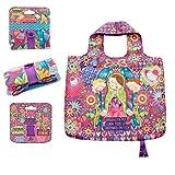 PracticDomus Bolsa Tote Bag Plegable de Gran Capacidad 100% Poliéster, Reutilizable y Original (Virgencita Plis)