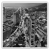 Impresionantes pegatinas cuadradas (juego de 2) 10 cm BW – Bogotá Colombia City Cityscape Fun Decals para portátiles, tabletas, equipaje, reserva de chatarras, frigoríficos, regalo fresco #42610