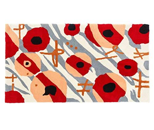 Tapis shaggy gris/rouge/noir avec motif 160x230 cm TAP06016