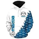 LIULL Sport Hoodies Pullover MAZ. Auto-Logo Digital-Sweatshirt Druck Baseball Uniform Teens Jacke A-XXXXXL