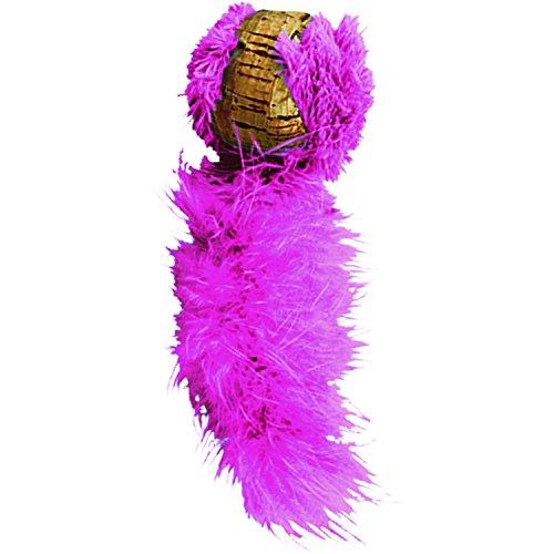 KONG – Cat Active Cork Ball – Katzenspielzeug mit Federn – Farbvar.