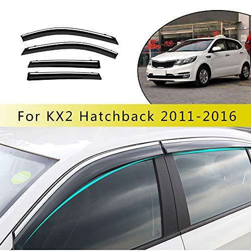 Piaobaige 4 Uds Visera De Ventana De Coche Deflectores De Viento Protector De Lluvia Solar para Coche para Kia K2 Hatchback 2011-2016