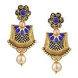 Efulgenz Boho Vintage Antique Ethnic Gypsy Tribal Indian Bollywood Crystal Pearl Drop Dangle Earrings Jewelry Set