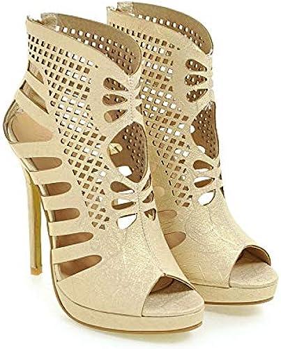 HommesGLTX Talon Aiguille Talons Hauts Sandales Plus Grande Taille 34-52 Chaussures Femmes Sandales Mode Talons Hauts Sandales été Style Chaussures De Soirée 588-1