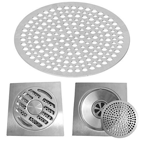 Semiter Malla de Drenaje, Filtro de Drenaje Redondo de Acero Inoxidable fácil de Usar, para baño, Inodoro, Lavabo de Cocina Plateado(82mm)