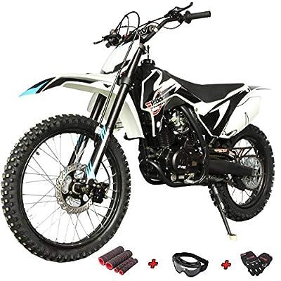 """X-PRO Titan 250cc Dirt Bike Zongshen Engine Pit Bike Gas Dirt Bikes Adult Dirt Pitbike 250cc Gas Dirt Pit Bike, Big 21""""/18"""" Wheels! (Black) by X-Pro"""