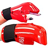 Otomix Karate Taekwondo Sparring Gear Gloves Mitts (Red, Large)
