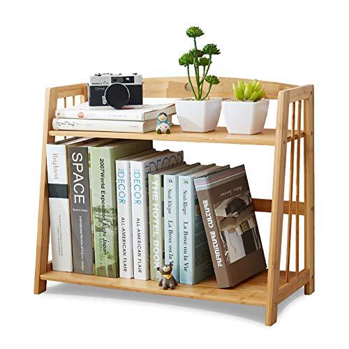 2 Tier Bamboe Desktop Plank Rek Voor Kinderen Tafel Top Stand Opslagrek Voor Thuis Of Kantoor