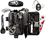 Poon Hill 14 in 1 Doomsday Survival Kit with Safety...