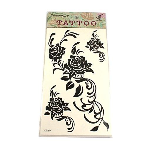 Tattoos mit schwarzen Ranken-Rosen