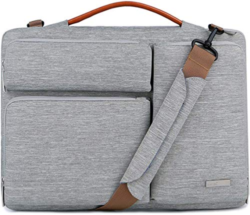 Lacdo 15.6 inch Protective Laptop Shoulder Bag Sleeve Case for 15.6' HP Pavilion 15/15s-fq1012, Acer Aspire 3 5 7/Predator, Dell Inspiron 15, Lenovo V155, Asus ZenBook 15/TUF FX505 Computer Bag, Gray