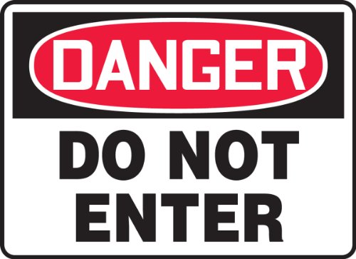 Accuform 'Danger Do Not Enter' Safety Sign, Plastic, 7 x 10 Inches (MADM138VP),Red/Black on White