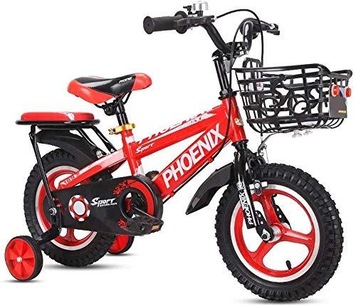 Jue Bicicleta de los niños 2-3-4-6-7 Años de Edad Niño Niña Bicicleta con Rueda Auxiliar 12in-16in