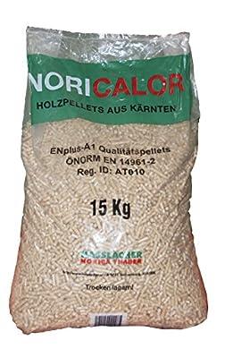Foto di Pellet NORICALOR di 100% abete sacchi da 15 kg certificato EN-PLUS