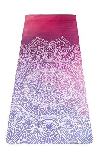 JAP Sports - rutschfeste Yoga Pilates Gymnastikmatte mit Tragegurt - 2 in 1 Matte und Handtuch - Naturkautschuk Öko - Ideal für alle Yoga-Arten 1830 x 680 x 3 mm - Wisdom