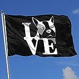 Elaine-Shop Banderas al Aire Libre Boston Terrier Love Más 4 * 6 Ft Bandera para la decoración del hogar Aficionado a los Deportes Fútbol Baloncesto Béisbol Hockey
