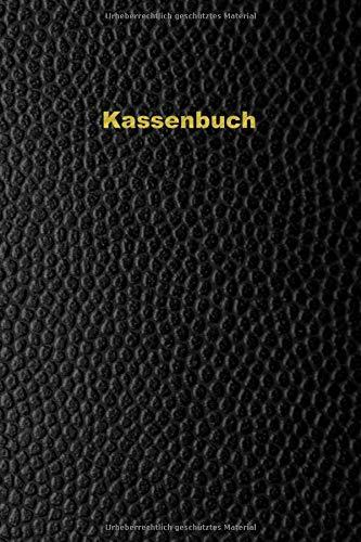 Kassenbuch: Einnahmen-Ausgaben Buch 120 Seiten A5 - Design - Schwarz Gold Lederoptik