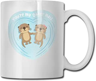 SHJZIO You're My Otter Half Funny Coffee Mug You're Awesome Unique Ceramic Novelty Holiday Christmas Hanukkah Gift for Men & Women Who Love Tea Mugs & Coffee Cups