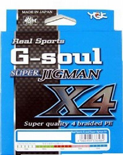 よつあみ(YGK) PEライン Gソウル スーパージグマン X4 200m 2号 30lb 4本 5色