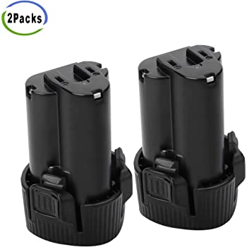 Creabest New 2 Packs 3000mAh BL1013 Battery for Makita 10.8V Battery BL1014 DF030D DF330D LCT203W 194550-6 194551-4 195332-9 Li-ion Rotary Oscillating Replacement Battery