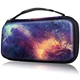 Fintie Carry Case for Nintendo Switch - Portable Traveler Protective Cover Storage Carrying Bag Pouch with 10 Game Card Slots and Inner Pocket for Nintendo Switch Console Joy-Con, Galaxy