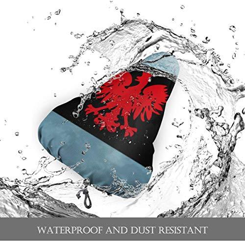 Enoqunt Chicego polnische Flagge Fahrradsitzbezug für Frauen, Übungsrad Sitzkissenbezug, Outdoor Fahrradsattel Regenbezug