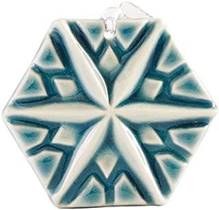 Pewabic Snowflake Ornament - North Star