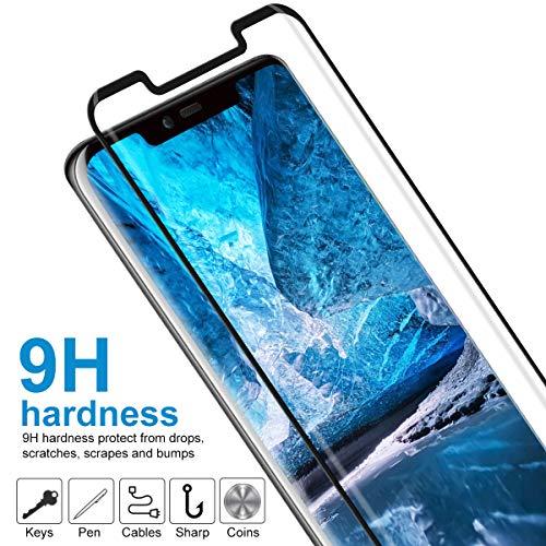 CRXOOX Panzerglas Schutzfolie für Huawei Mate 20 Pro Panzerglasfolie 2 Stück mit Fingerabdrucksensor - 9H Härte Glas Folie, Anti Fingerprint 3D Curved Ultra Dünn HD Case Friendly Displayschutzfolie - 4