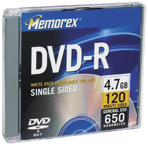 Memorex 4,7 GB DVD-R Media (descontinuado pelo fabricante)