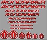 Ecoshirt RV-LA8W-NSS8 Pegatinas Mondraker Bici R180 Stickers Aufkleber Decals Autocollants Adesivi, Rojo