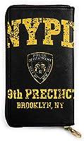 99th Precinct Brooklyn NY レザーラウンドファスナー長財布メンズ 牛革大容量収纳 整理 財布 小钱包 本革さいふ 紳士 Long Wall