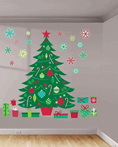 amscan Whimsical Kit de décoration Mural Sapin de Noël