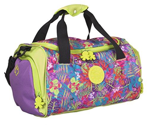 okiedog wildpack Jungle Fever 85021 Sporttasche mit Schuhfach Orchidee, pink/lila