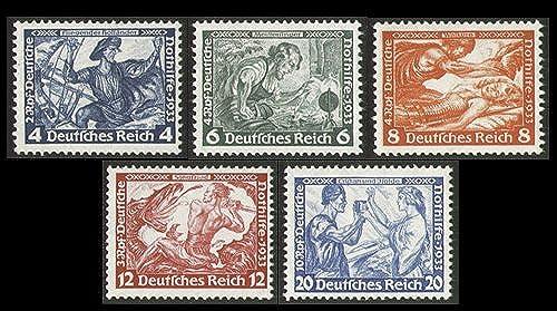 Goldhahn Deutsches Reich Nr. 500,502-505 B Nothilfe Wagner 5 Werte- Briefmarken für Sammler