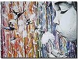 Pintura por número/kit de pintura al óleo de bricolaje/sin marco/set principiante principiante pintura al óleo creativa lienzo bailarina clásica de diente de león (40x50cm)