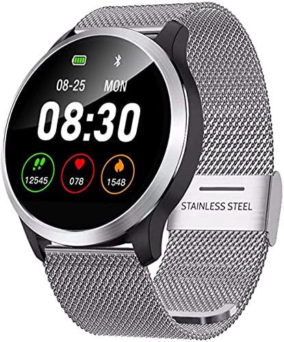 Reloj inteligente presión arterial y monitor de frecuencia cardíaca y ritmo cardíaco gráfico delicioso episodio IP68 impermeable hombres y mujeres watch-B