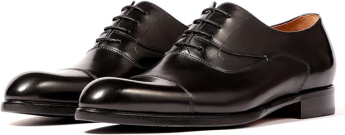 LEIZILEI Real fetal Cowhide Oxford Shoes Brown Business Mens Dress Shoes
