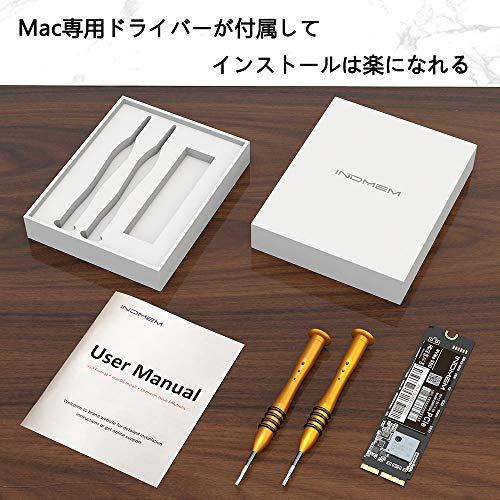 『INDMEM 256GB NVMe PCIe内蔵SSD Mac専用SSD アップグレードキット 専用ドライバー付き 対応モデル MacBook Pro Retina Late 2013-Mid 2015 MacBook Air Mid 2013-2017 iMac Late 2013-2017 Mac Pro Late 2013 Mac Mini Late 2014』の5枚目の画像