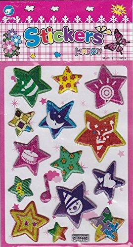 by soljo 3D étoiles Star Decal Autocollant de décalque 1 Dimensions de la Feuille: 16 cm x 8 cm