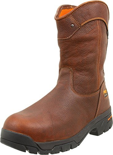 Timberland PRO Men's Helix Wellington Waterproof Steel Toe Work Boot,Brown/Brown,11.5 W US