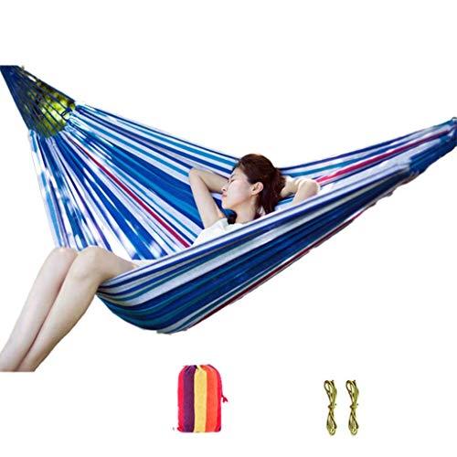 Hamacs, Meubles de Camping Facile à Transporter Simple Multi-scène Applicable Extérieur en Toile Solide et Durable Charge 180 kg (Couleur: Couleur Violette, Taille: 200 * 80 cm) Confortable