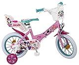 Bicicleta Toimsa Minnie de 14 para la edad de 4 a 6 años. Tiene portabebés en la...