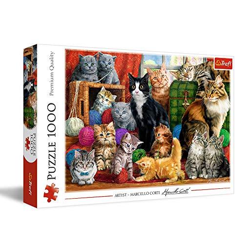 Trefl- Katzentreffen 1000 Teile, Premium Quality, für Erwachsene und Kinder AB 12 Jahren Puzle, Color Coloreado (10555)