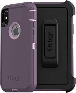 OtterBox DEFENDER SERIES SCREENLESS EDITION Case for iPhone Xs & iPhone X - Frustration Free Packaging - PURPLE NEBULA (WINSOME ORCHID/NIGHT PURPLE)