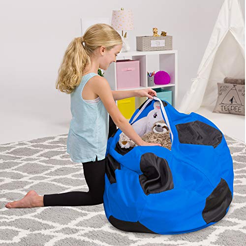 Posh Beanbags Bean Bag Chair Sports Soccer Ball Black and White X-Large-48in