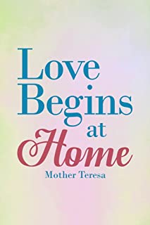 Mother Teresa Love Begins at Home Blue Famous Motivational Inspirational Quote Cubicle Locker Mini Art Poster 8x12