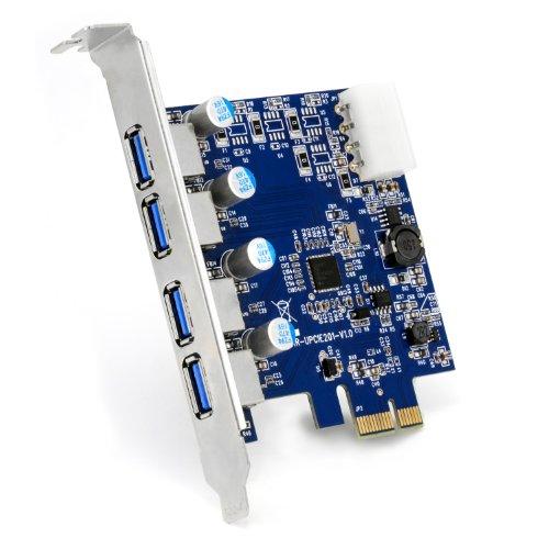 CSL - Scheda PCIe 4 Porte USB 3.0 - PCI Express USB 3 Plug e Play