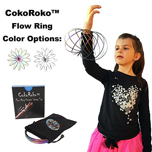 CokoRoko Holographic Flow Ring 3D Kinetic Spring Toy Sculpture Ring Game Toy for Kids and Adults. Magic Ring Perfect for Outdoor Games and Funny Beach Toys.