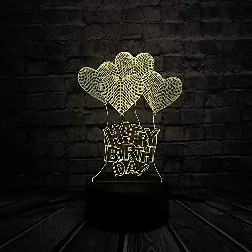 Romantische Liebe Herz Ballon 3D LED USB Lampe Heiratsantrag Hochzeit Dekoration Bunte Nachtlicht Geschenk Gadget
